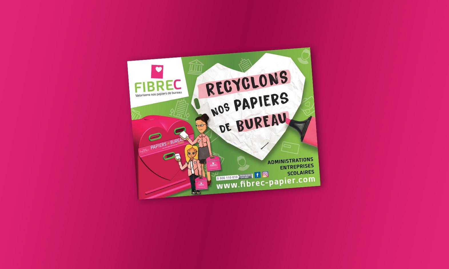 Fibrec papier bureau recycle