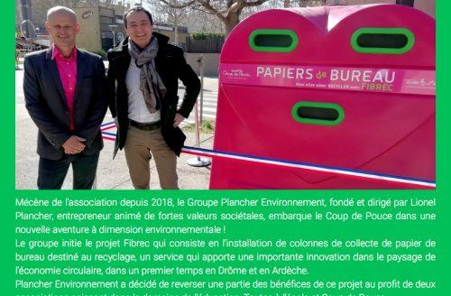 REMERCIEMENTS DE L'ASSOCIATION COUP DE POUCE